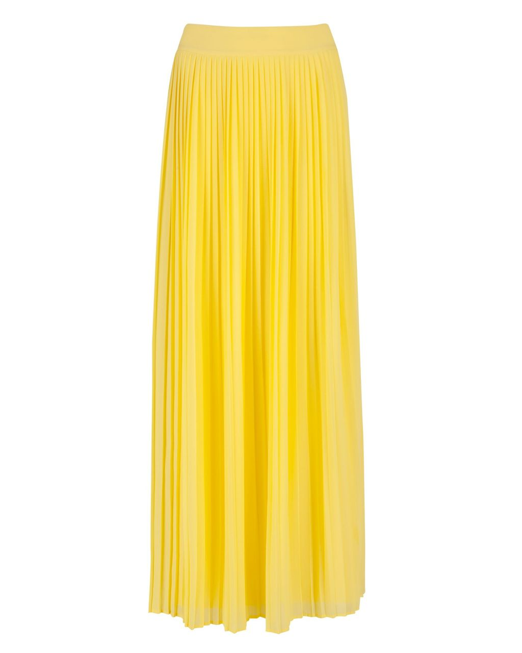 Ted baker ochelle split front maxi skirt yellow in yellow