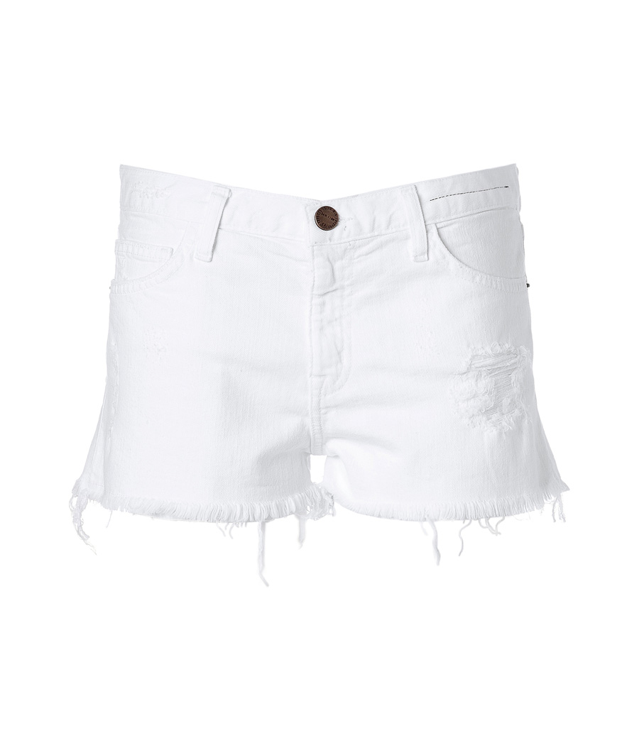 Sugar Destroyed Denim Shorts - style: shorts; pocket detail: pockets at the sides, traditional 5 pocket; length: short shorts; waist: mid/regular rise; predominant colour: white; fibres: cotton - stretch; material texture: denim; texture group: denim; fit: skinny/tight leg