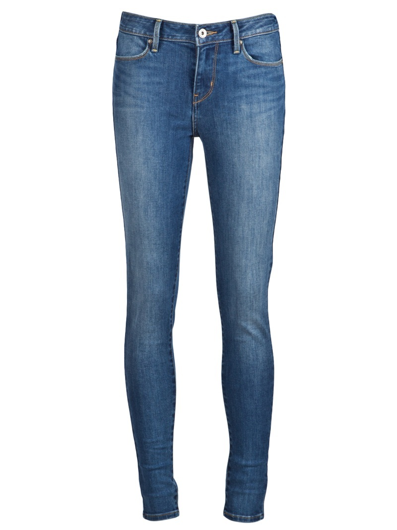 Legging Jean - style: skinny leg; length: standard; pattern: plain; pocket detail: large back pockets, pockets at the sides, traditional 5 pocket; waist: mid/regular rise; predominant colour: denim; occasions: casual; fibres: cotton - stretch; material texture: denim; jeans detail: washed/faded; texture group: denim; pattern type: fabric; pattern size: standard