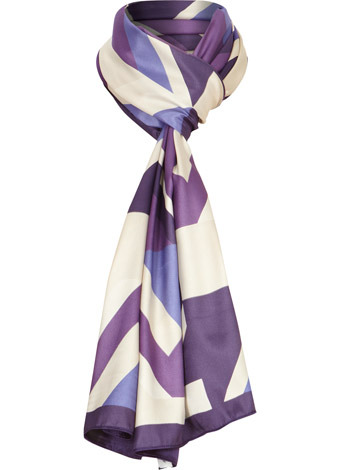 Purple Stained Glass Print Scarf - predominant colour: purple; type of pattern: heavy; style: regular; size: standard; material: fabric; pattern: abstract, patterned/print