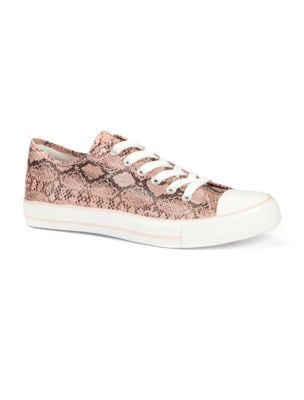 Snake Print Sports Shoes - predominant colour: mid grey; material: fabric; heel height: flat; embellishment: animal print, print; toe: round toe; style: trainers; pattern: animal print, patterned/print