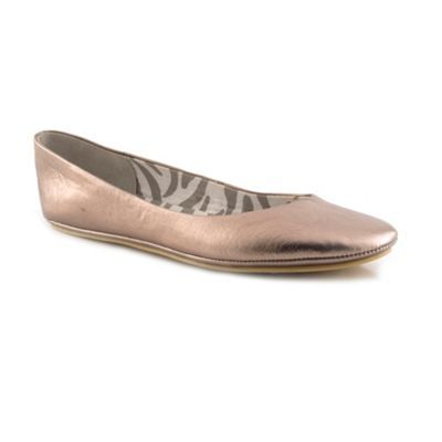 Beige Unstructured Ballerina - predominant colour: stone; material: faux leather; heel height: flat; toe: round toe; style: ballerinas / pumps