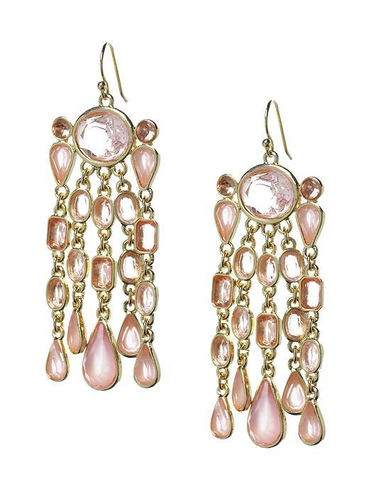 Pink Sparkle Drop Earring - predominant colour: pink; style: drop; length: long; size: standard; material: precious stones; fastening: pierced; embellishment: jewels