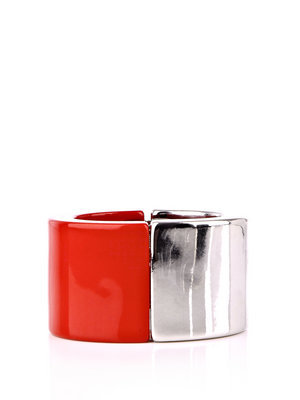 Lampo Cuff - predominant colour: true red; style: cuff; size: standard; material: plastic/rubber