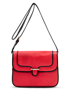 Handbag M.. Bruno C - predominant colour: true red; type of pattern: standard; style: shoulder; length: across body/long; size: small; material: faux leather; pattern: plain
