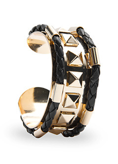 Bracelet 3 Star T C - predominant colour: gold; style: cuff; size: standard; material: chain/metal