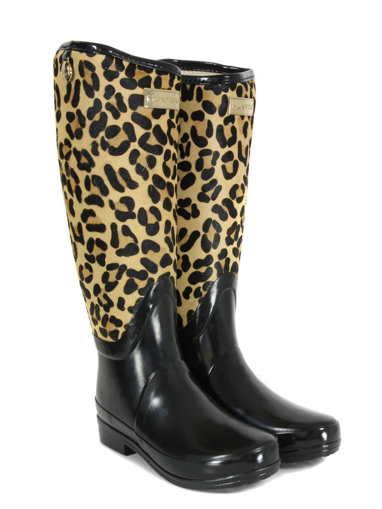 Regent Montpelier Brown Leopard Wellies - predominant colour: black; material: plastic/rubber; heel height: flat; embellishment: animal print; heel: standard; toe: round toe; boot length: knee; style: wellies; pattern: animal print