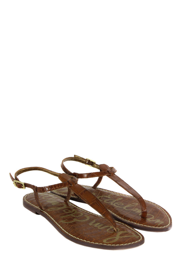Gigi Whiskey Sandals - predominant colour: chocolate brown; material: leather; heel height: flat; ankle detail: ankle strap; heel: standard; toe: open toe/peeptoe; style: flip flops / toe post