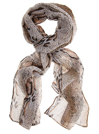 Pack Of Two Animal Scarves - predominant colour: multicoloured; type of pattern: heavy; style: regular; size: standard; material: fabric; pattern: animal print