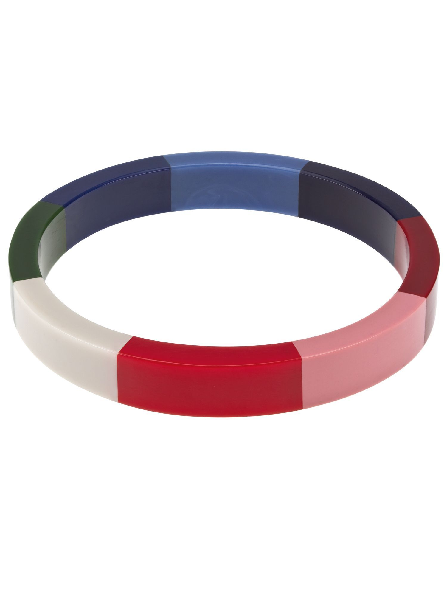 Stripe Bangle, Metallic Gold & Mult - predominant colour: multicoloured; style: bangle; size: standard; material: plastic/rubber