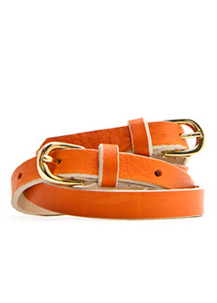 Belt Pincel T C - predominant colour: bright orange; style: classic; size: skinny; worn on: waist; material: leather; pattern: plain