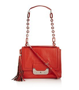 Harper Connect Bag - predominant colour: true red; style: shoulder; length: shoulder (tucks under arm); size: small; material: leather; pattern: plain