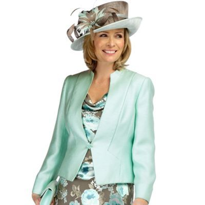 Julep Stand Collar Jacket - pattern: plain; shoulder detail: shoulder pads; collar: mandarin; style: tailored/fitted; fit: slim fit; predominant colour: pistachio; length: standard; fibres: polyester/polyamide - mix; material texture: satin; occasions: occasion; waist detail: fitted waist; trends: pastels; sleeve length: long sleeve; sleeve style: standard; texture group: structured shiny - satin/tafetta/silk etc.; collar break: high; pattern type: fabric; pattern size: standard