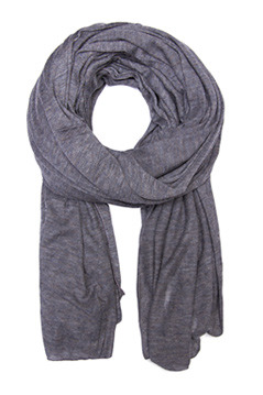 Foulard Mot T C - predominant colour: mid grey; style: regular; material: fabric; pattern: plain