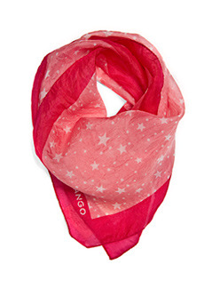 Scarf   P Univers C - predominant colour: true red; type of pattern: light; style: square; size: standard; material: silk; pattern: graphic print, picture design, patterned/print