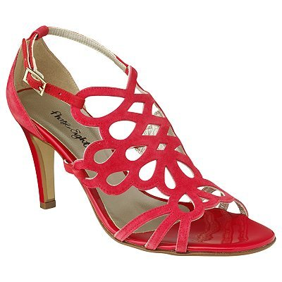 Alexa Strappy Sandals, Red - predominant colour: true red; material: patent; heel height: mid; ankle detail: ankle strap; heel: stiletto; toe: open toe/peeptoe; style: strappy; finish: patent