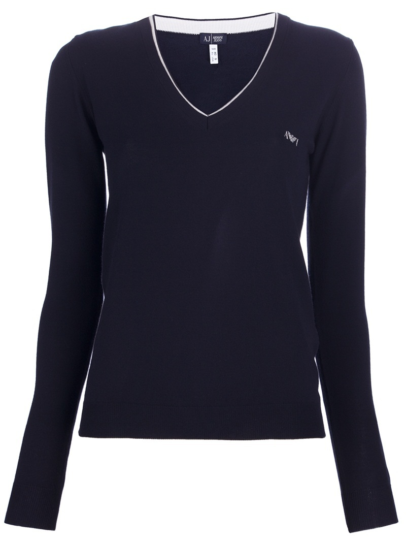 Fitted Sweater - neckline: v-neck; pattern: plain; style: standard; predominant colour: black; occasions: casual; length: standard; fibres: polyester/polyamide - 100%; fit: standard fit; waist detail: fitted waist; sleeve length: long sleeve; sleeve style: standard; pattern type: knitted - other; pattern size: standard