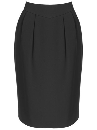 New Kensington Skirt, Black - pattern: plain; style: pencil; fit: tailored/fitted; waist detail: wide waistband/cummerbund; waist: high rise; predominant colour: black; occasions: work; length: just above the knee; fibres: polyester/polyamide - mix; pattern type: fabric; pattern size: standard