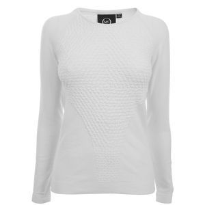 Pucker Knit Crew Neck Jumper - pattern: plain; length: below the bottom; style: standard; predominant colour: white; occasions: casual; fibres: cotton - mix; material texture: jersey; fit: standard fit; neckline: crew; waist detail: fitted waist; trends: white; sleeve length: long sleeve; sleeve style: standard; pattern type: knitted - other; pattern size: standard; texture group: jersey - stretchy/drapey