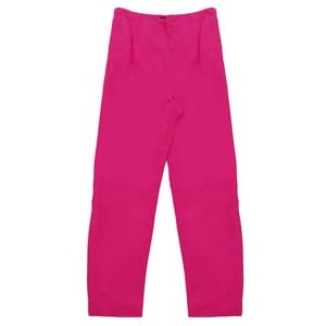 Silk High Waist Tapered Trousers - waist: high rise; pocket detail: pockets at the sides; predominant colour: hot pink; occasions: casual; length: ankle length; fibres: silk - 100%; material texture: sateen; texture group: structured shiny - satin/tafetta/silk etc.; fit: tapered; style: standard