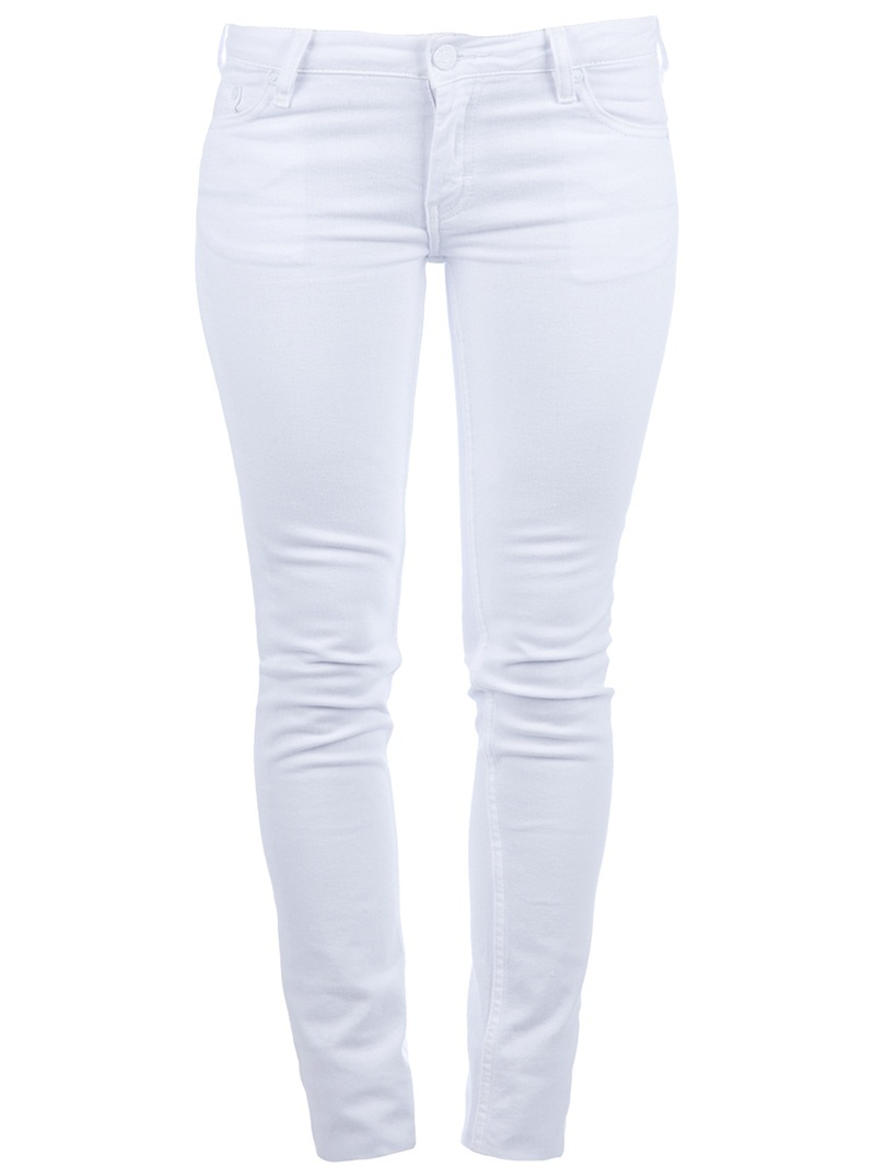 'Kex' Skinny Jean - style: skinny leg; length: standard; pattern: plain; waist: low rise; pocket detail: traditional 5 pocket; predominant colour: white; occasions: casual; fibres: cotton - stretch; material texture: denim; trends: white; texture group: denim; pattern type: fabric; pattern size: standard
