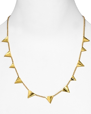 Gold Thorn Layering Necklace - predominant colour: gold; style: standard; length: mid; size: standard; material: chain/metal