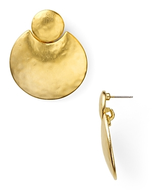 Earrings Gold Layered Coin Drop Earrings - predominant colour: gold; style: drop; length: mid; size: small; material: chain/metal; fastening: pierced