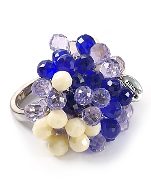 Briolette Cluster Ring - predominant colour: multicoloured; style: cocktail; size: large/oversized; material: crystal; embellishment: crystals