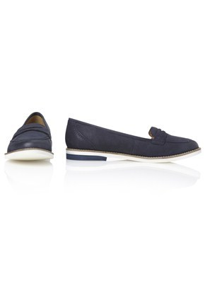 Ronald Loafers - predominant colour: navy; material: suede; heel height: flat; toe: round toe; style: loafers