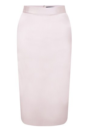 Marion Satin Pencil Skirt - length: below the knee; pattern: plain; style: pencil; fit: tailored/fitted; waist detail: fitted waist, narrow waistband; hip detail: fitted at hip; waist: mid/regular rise; predominant colour: blush; occasions: evening, work; fibres: polyester/polyamide - stretch; material texture: satin; trends: pastels; texture group: structured shiny - satin/tafetta/silk etc.; pattern type: fabric; pattern size: standard