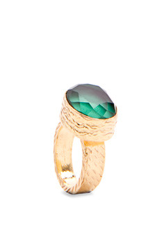 Ring 5 Fauno T C - predominant colour: gold; style: cocktail; size: large/oversized; material: chain/metal