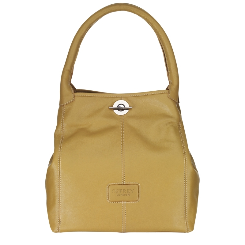 Amis Medium Shoulder Handbag, Natural - predominant colour: stone; style: shoulder; length: shoulder (tucks under arm); size: standard; material: leather; pattern: plain