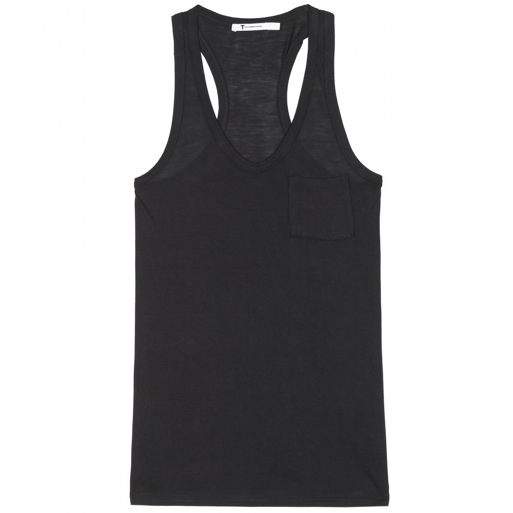 Classic Tank With Pocket - sleeve style: standard vest straps/shoulder straps; pattern: plain; waist detail: fitted waist; style: vest top; back detail: racer back/sports back; predominant colour: black; occasions: casual; length: standard; neckline: scoop; fibres: polyester/polyamide - 100%; material texture: jersey; fit: body skimming; trends: sports luxe; sleeve length: sleeveless; pattern type: fabric; pattern size: standard; texture group: jersey - stretchy/drapey