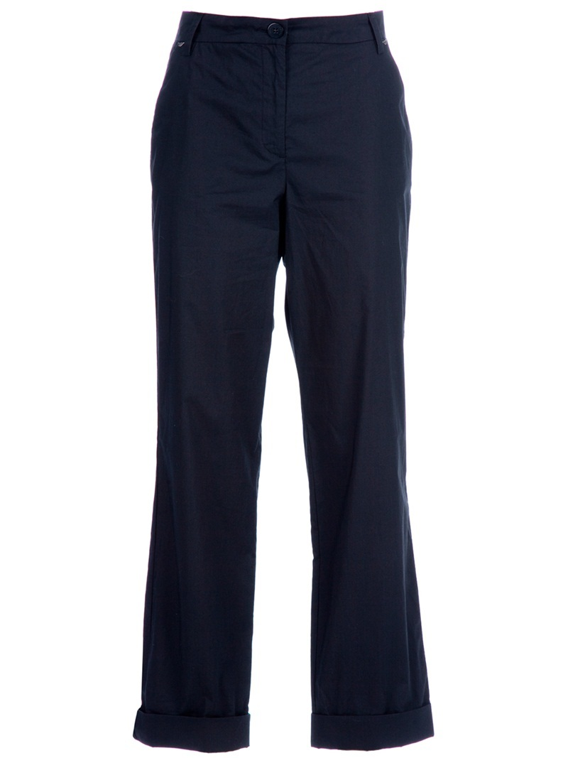 Straight Fit Trouser - length: standard; pocket detail: small back pockets, pockets at the sides; waist: mid/regular rise; predominant colour: black; occasions: casual; fibres: cotton - 100%; material texture: sateen; texture group: structured shiny - satin/tafetta/silk etc.; fit: straight leg; style: standard