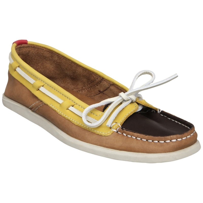 Lydio Leather Casual Boat Shoes, Tan - predominant colour: multicoloured; material: leather; heel height: flat; toe: round toe; style: loafers