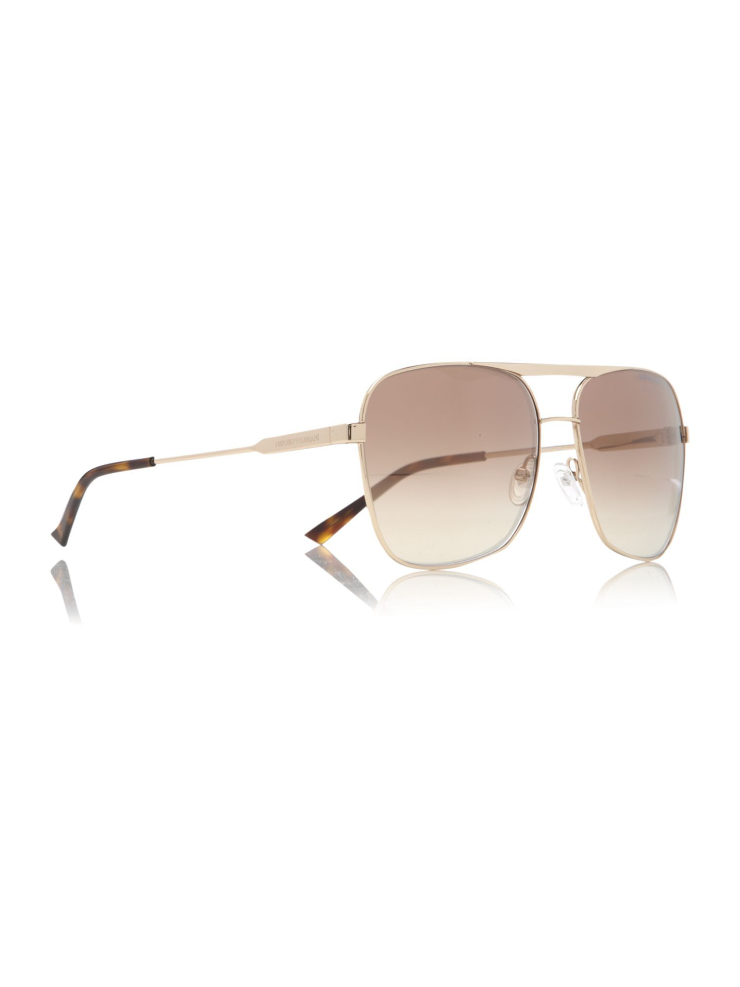 Ladies Ea9790/S Sunglasses - predominant colour: gold; style: aviator; size: standard; material: chain/metal; pattern: plain