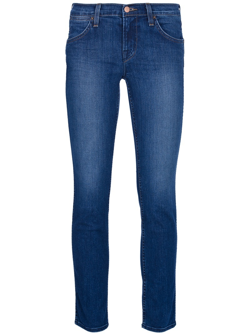 'Peyton' Jeans - style: skinny leg; length: standard; pattern: plain; pocket detail: traditional 5 pocket; waist: mid/regular rise; predominant colour: royal blue; occasions: casual; fibres: cotton - mix; material texture: denim; jeans detail: shading down centre of thigh; trends: aquatic; texture group: denim; pattern type: fabric; pattern size: standard