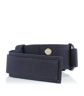 Fabric Belt - predominant colour: black; style: classic; size: standard; worn on: hips; material: fabric; pattern: plain