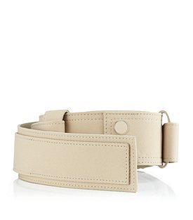 Fabric Belt - predominant colour: stone; style: classic; size: standard; worn on: hips; material: fabric; pattern: plain