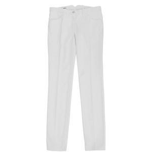 Cotton Drill Stretch Trouser - length: standard; pocket detail: small back pockets; hip detail: front pockets at hip; waist detail: belted waist/tie at waist/drawstring, narrow waistband; waist: mid/regular rise; predominant colour: white; occasions: casual, evening; fibres: cotton - stretch; material texture: sateen; trends: white; texture group: structured shiny - satin/tafetta/silk etc.; fit: straight leg; style: standard