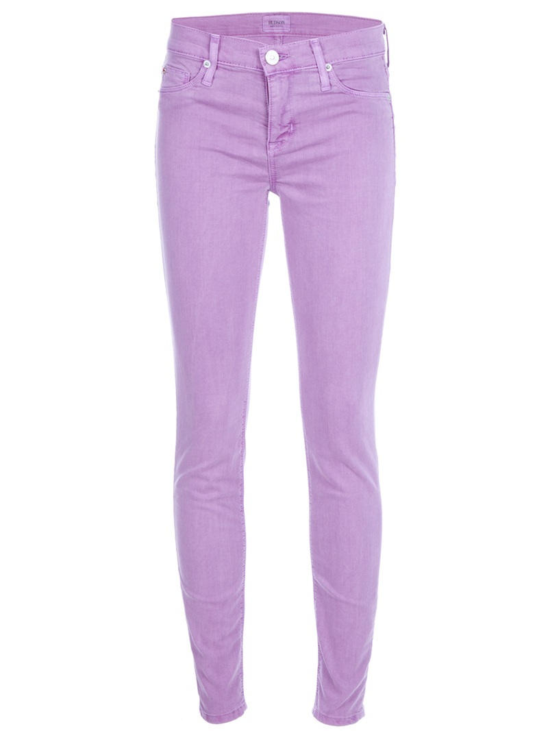 &#x27;Nico&#x27; Jean - style: skinny leg; length: standard; pattern: plain; pocket detail: traditional 5 pocket; waist: mid/regular rise; predominant colour: lilac; occasions: casual; fibres: cotton - mix; material texture: denim; trends: pastels; texture group: denim; pattern type: fabric; pattern size: standard