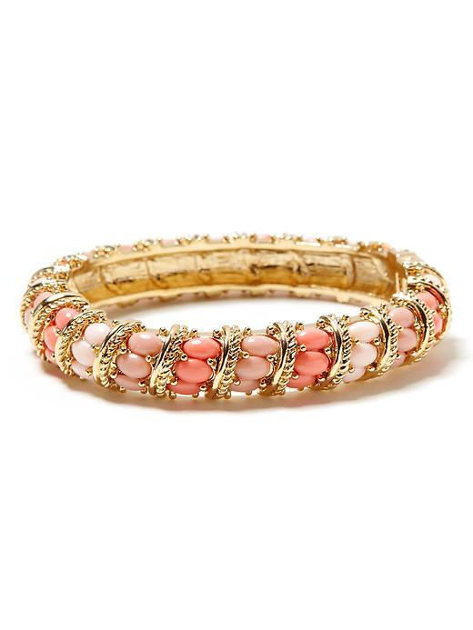 Horizon Bangle - predominant colour: ivory; style: bangle; size: small; material: chain/metal