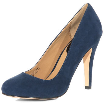 Teal Roslin Suedette Court - predominant colour: teal; material: suede; heel height: high; heel: stiletto; toe: round toe; style: courts