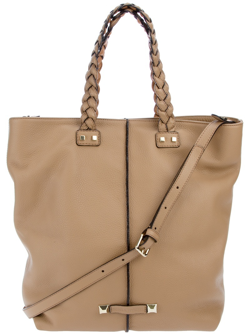 'Boston' Tote - predominant colour: camel; style: tote; length: handle; size: oversized; material: leather; pattern: plain