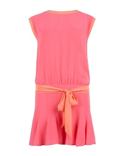 Ted Baker Harts Pleated Playsuit - waist detail: belted waist/tie at waist/drawstring; length: short shorts; predominant colour: pink; occasions: casual; fit: body skimming; fibres: polyester/polyamide - 100%; texture group: sheer fabrics/chiffon/organza etc.