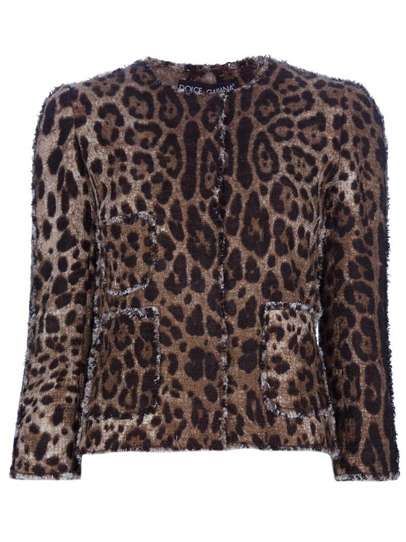 Animal Print Cardigan - neckline: round neck; length: cropped; hip detail: front pockets at hip; pattern: big animal print, small animal print, animal print; predominant colour: chocolate brown; occasions: casual, evening, work; style: standard; fibres: cotton - mix; material texture: jersey; fit: slim fit; trends: prints; sleeve length: 3/4 length; sleeve style: standard; pattern type: knitted - other; pattern size: small &amp; busy; texture group: jersey - stretchy/drapey