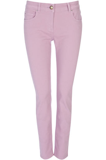 Petite Lilac Slim Leg Jeans - length: standard; pattern: plain; pocket detail: traditional 5 pocket; style: slim leg; waist: mid/regular rise; predominant colour: lilac; occasions: casual; fibres: cotton - stretch; material texture: denim; trends: pastels; texture group: denim; pattern type: fabric; pattern size: standard
