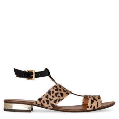 Misty Leopard Print Sandals - predominant colour: camel; material: animal skin; heel height: mid; embellishment: animal print; ankle detail: ankle strap; heel: block; toe: open toe/peeptoe; style: standard; pattern: animal print