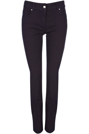 Navy Twill Slim Leg Jean - length: standard; pattern: plain; pocket detail: traditional 5 pocket; style: slim leg; waist: mid/regular rise; predominant colour: navy; occasions: casual; fibres: cotton - stretch; material texture: denim; texture group: denim; pattern type: fabric; pattern size: standard