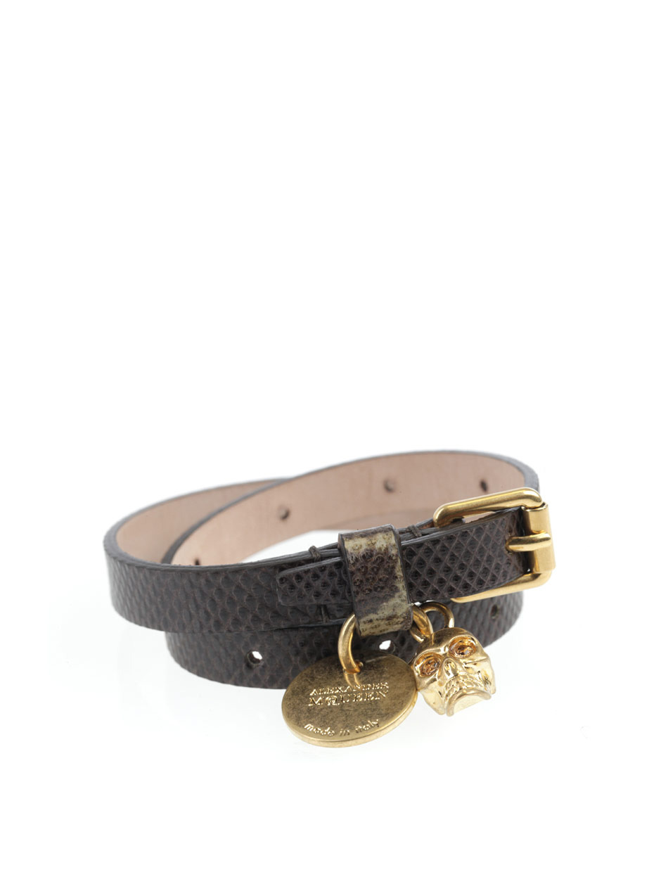 Karung Wrap Bracelet - predominant colour: chocolate brown; style: buckle; size: standard; material: leather